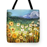 A Mountain View Tote Bag by Jennifer Lommers