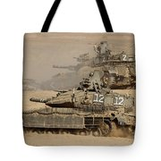 A Pair Of Israel Defense Force Merkava Tote Bag