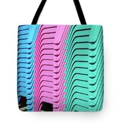 A Rainbow Of Chairs Tote Bag