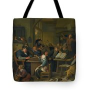 A Riotous Schoolroom With A Snoozing Schoolmaster Tote Bag
