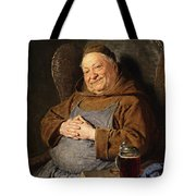 A Seated Monk With A Tankard Tote Bag