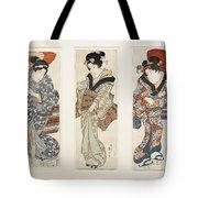 A Set Of Three Woodblock Prints Kakemono Tote Bag