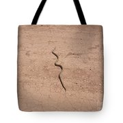 A Snake On The Dirt Tote Bag