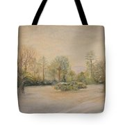 A Snowy Morn At Dalhebity Tote Bag