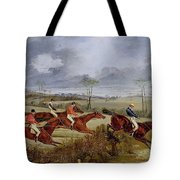 A Steeplechase - Near The Finish Henry Thomas Alken Tote Bag