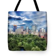 A Summer Day In Boston Tote Bag