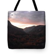 A Sunset View Through A Valley In The Southwest Foothills Of The Sierra Nevadas Tote Bag