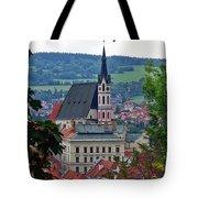 A View Of Cesky Krumlov In The Czech Republic Tote Bag