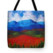 A View Of The Blue Mountains Of The Adirondacks Tote Bag