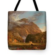A View Of The Mountain Pass Called The Notch Of The White Mountains, Crawford Notch Tote Bag