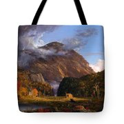 A View Of The Mountain Pass Called The Notch Of The White Mountains Tote Bag