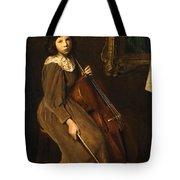 A Young Violoncellist Tote Bag