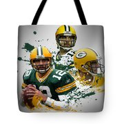 Aaron Rodgers Packers Tote Bag
