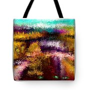 Aaw2- Evening At The Pond Tote Bag
