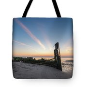 Abandoned Boat Sunset  Tote Bag