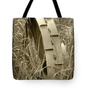 Abandoned Steel Farm Implement Wheel Tote Bag