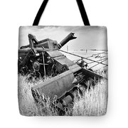 Abondoned Combine In Tall Grass Tote Bag
