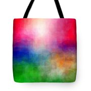 Abstract Cubist Interpreation Of Myirish Cottages Painting Available As A Large Stretched Canvas Art Tote Bag