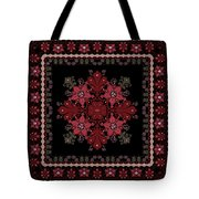 Abstract Ethnic Shawl Floral Pattern Design Tote Bag
