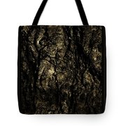 Abstract Gold And Black Texture Tote Bag