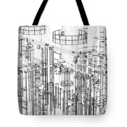 Abstract Industrial And Technology Background Tote Bag