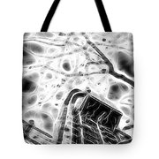 Abstract Modern Building And Tree Silhouette Pattern Design Tote Bag
