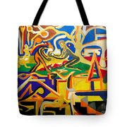 Abstract Number Nine  Tote Bag