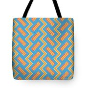 Abstract Orange, White And Red Pattern For Home Decoration Tote Bag
