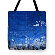 Abstract Painting - Yale Blue Tote Bag