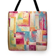 Abstract Pop Art Style Unique Pastel Painting Contemporary Art By Megan Duncanson Tote Bag