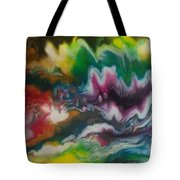 Abstract Resin Pour Tote Bag