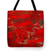 Lava Lust Abstract  Tote Bag