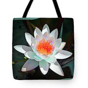 Abstract Waterlily Tote Bag