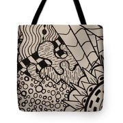 Aceo Zentangle Abstract Design Tote Bag