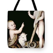 Adoration Of The Child Jesus By St John The Baptist Tote Bag