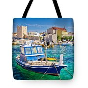Adriatic Town Of Razanac Colorful Waterfront Tote Bag