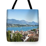 Aerial View Of Lucerne In Switzerland.  Tote Bag