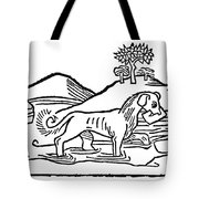 Aesop: Dog & His Shadow Tote Bag