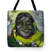 African Bead Painting Tote Bag