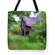 Aging Barn In Woods Series Tote Bag