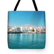 Agios Nikolaos Panorama Tote Bag