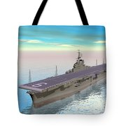 Aircraft Carrier - 3d Render Tote Bag