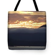 Alaskan Coast Sunset, View Towards Kosciusko Or Prince Of Wales  Tote Bag
