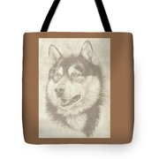 Alaskan Malamute And Pup Tote Bag