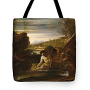 Alexander The Great Rescued From The River Cydnus Tote Bag