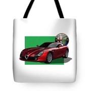 Alfa Romeo Zagato  T Z 3  Stradale With 3 D Badge  Tote Bag