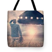 Alien Encounter Tote Bag