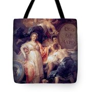 Allegory Of The City Of Madrid Tote Bag