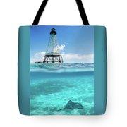 Alligator Reef Lighthouse Tote Bag