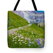 Alta Vista Trail In  Mount Rainier National Park, Washington  Tote Bag